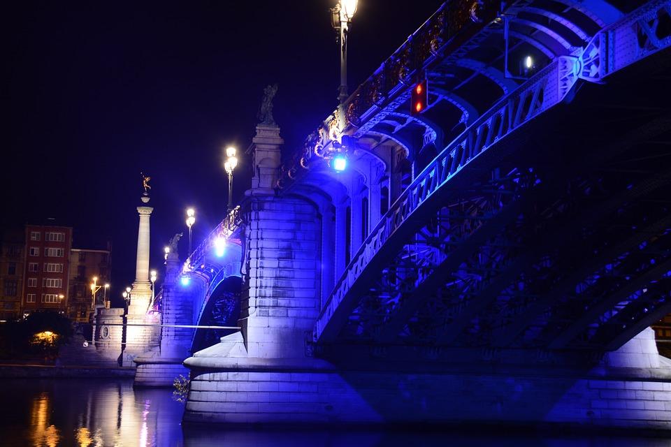 Pont de Fragnée (nuit)
